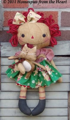 PatternMart.com ::. PatternMart: Candy Cane Rag Doll and Kitty Kisses PM