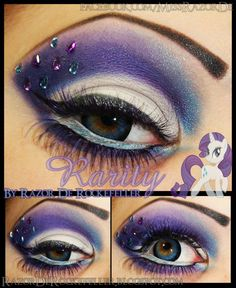 Beautiful Rarity makeup idea! - 11 Rarity Cosplays