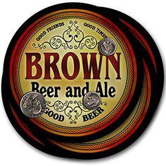 Brown Beer & Ale - 4 pack Drink Coasters ZuWEE…