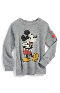 Peek 'Disney - Mickey Mouse' Graphic Crewneck Sweatshirt (Toddler Boys, Little Boys & Big Boys)