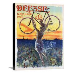 Global Gallery Bicycle Deesse 1898 Wall Art - GCS-456231-1824-143