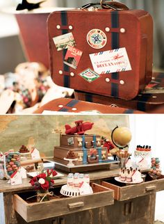 {Around the World} Vintage Airplane Birthday Party