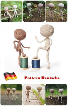 #Deutsch #häkeln Tutorial Puppe, #Basismodell #Puppe, #Miniatur-Körper #Grundlage für die #Puppen #Schritt für #Schritt #Handhäkelns #Häkeln #Muster base model #little #doll #crochet #tutorial #German от #PetsLair на Etsy