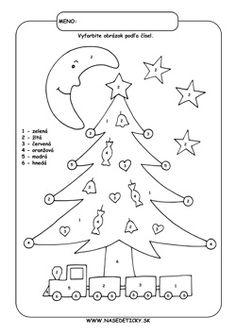 Vianočný stromček. Omaľovánka.