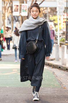 Noel | ZARA COS  WILLIAM LOCKIE vintage CONVERSE TIDEWAY | 4th week  Nov. 2016 | Omotesando | Tokyo Street Style | TOKYO STREET FASHION NEWS | style-arena.jp