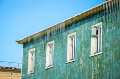 House with icicles Barentsburg, Spitzbergen