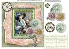 Just a Note Portrait Card Topper Decoupage on Craftsuprint - Add To Basket!