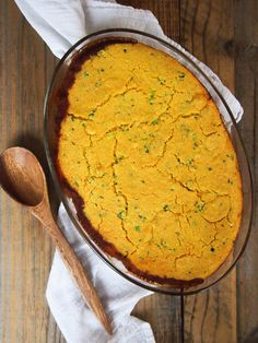 vegetarian Southern black-eyed pea and greens casserole with cornbread ...