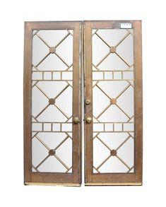 Reclaimed Bronze & Glass Double Doors 94.5 x 67.5