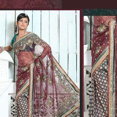 Rustic Teal Pure Banarasi Silk Saree with Blouse