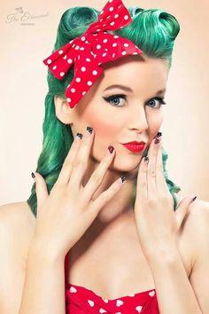Rock, Rock, Rockabilly! Fashion:: Retro Style:: Rockabilly Girls LOVE this hair color!
