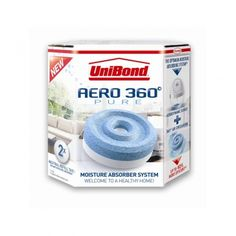 Unibond Aero 360 Pure Moisture Absorber System Unibond Aero 360 Pure Moisture Absorber System An optimal system based on 360 air circulation. Based on the physical principle that the greater the surface area between the refill Tab and the air, the http://www.MightGet.com/january-2017-12/unibond-aero-360-pure-moisture-absorber-system.asp