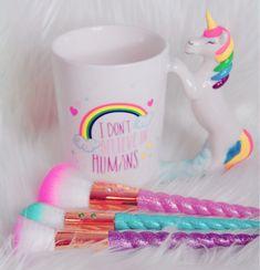 "Unicorn ""I don't believe in humans"" mug Majestic Unicorn, Real Unicorn, Unicorn Art, Cute Unicorn, Rainbow Unicorn, Unicorn Kids, Unicorn Room Decor, Unicorn Rooms, Unicorn Bedroom"