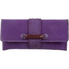 Pre-owned Fatto a Mano by Carlos Falchi Python-Trimmed Flap Clutch ($75) ❤ liked on Polyvore featuring bags, handbags, clutches, purple, canvas man bag, handbag purse, handbags clutches, hand woven bags and purple purse