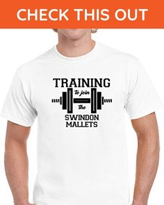Training To Join the Swindon Mallets Workout T shirt S White - Workout shirts (*Amazon Partner-Link)