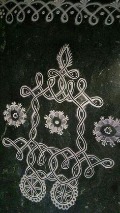 Indian Rangoli Designs, Rangoli Border Designs, Rangoli Ideas, Rangoli Designs With Dots, Rangoli With Dots, Beautiful Rangoli Designs, Kolam Designs, Rangoli Borders, Kolam Rangoli