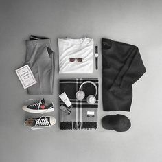 Monochromatic mania. ___ Shirt: @handvaerk Watch: @mondaine_watch Helvetica Sweater: @cosstores Scarf: @holzweiler Trousers: @toddsnyderny Hat: @harmony_paris Sneakers: @commedesgarcons X @converse Wallet: @troubadourgoods Balm: @v76 Cologne: @armanibeauty Headphones: @beoplay Sunglasses: @domvetro #ootd #outfitoftheday #lookoftheday #TFLers #fashion #fashiongram #style #love #beautiful #currentlywearing #lookbook #wiwt #whatiwore #whatiworetoday #ootdshare #outfit #clothes #wiw #mylook…