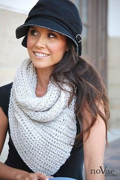 Infinity Knit Triangle Scarf! On sale (57% Off!) for $12.99!  4 colors to choose from! LOVE it! Novaeclothing.com