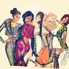 """A few of my favourites #penielenchill #fashionsketch #fashionillustration…"
