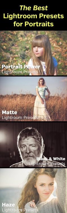 Lightroom presets for portraits - links to some of the best collections/packs of presets for processing portrait photos