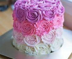 Resultado de imagen para tortas rosado y lila para 15 años