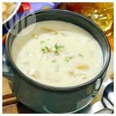 Clam Chowder (Sopa de Almejas) @ allrecipes.com.ar