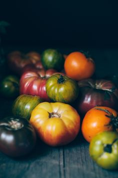 Heirloom tomatoes still life. Summer 2013.