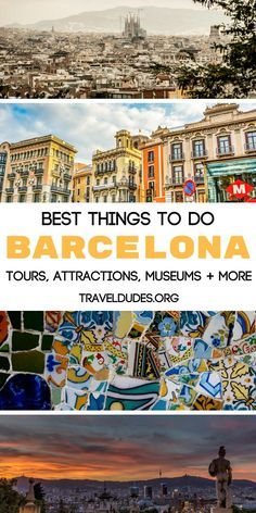 The ultimate travel guide to things to do in Barcelona, Spain. From windsurfing and kayaking at the beach to exploring the Gothic Quarter to taking a food tour, this guide includes all of the best activities in the city. Catch a soccer (futbol) game at the FC Barcelona Stadium, visit the best museums and you definitely can't forget Park Güell. Travel in Europe. | Travel Dudes Travel Community #Barcelona #Spain #Europe #Travel #TravelTips #TravelGuide