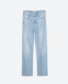 Image 8 of MEDIUM-RISE WIDE CUT JEANS from Zara