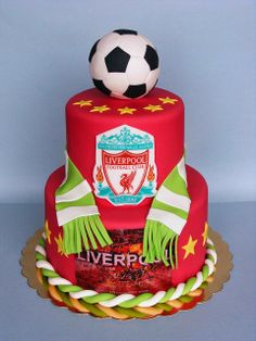 "Liverpool - Sean""s next birthday cake Birthday Cakes For Men, Football Birthday Cake, Happy 20th Birthday, Cakes For Boys, Cake Birthday, Birthday Bash, Liverpool Cake, Liverpool Soccer, Sport Cakes"