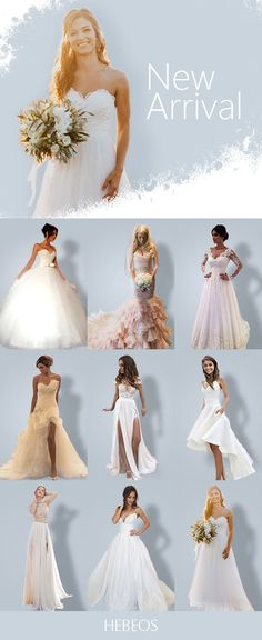 New Arrival Dresses on Sale! Choose your perfect look at now! Modest Wedding Gowns, Wedding Dresses Plus Size, Cheap Wedding Dress, Wedding Attire, Bridal Dresses, Bridesmaid Dresses, Prom Dresses, Wedding Collage, Cute Wedding Ideas