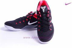 17b7f3679ffd Nike Kobe 9 Elite 646701-001 Nero Bianco-Rosso laser-Grigio lupo