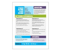 Modern Blocks Resume Template: Get this free, printable, customizable template from YourTemplateFinder.com