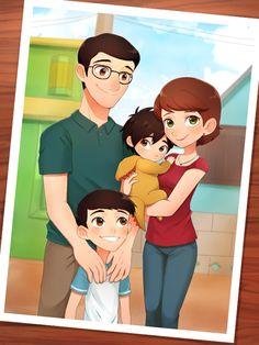 The Hamada Family (art credit to korikori)
