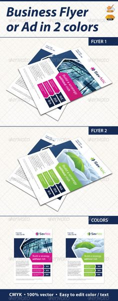 Flyer / Ad — Vector EPS #a4 flyer #minimal • Available here → https://graphicriver.net/item/flyer-ad/2478544?ref=pxcr