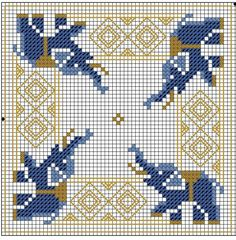 Elephant cross stitch chart