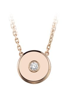 ff77df7c2 TABBAH -- Beret Icon Necklace in 18K Rose Gold set with 1 Diamond (Ref.  PEND2718)