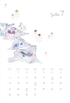 2013 calendar July/Juillet