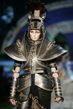 Tagged: john galliano, christian dior, haute couture, armor, runway, fashion.