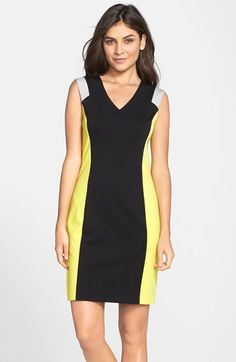 Marc New York by Andrew Marc Colorblock Ponte Sheath Dress available at #Nordstrom