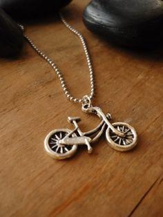 Silver Bike Charm on a Ball Chain  Schwinn Bike  Women's by Soasa, $14.00