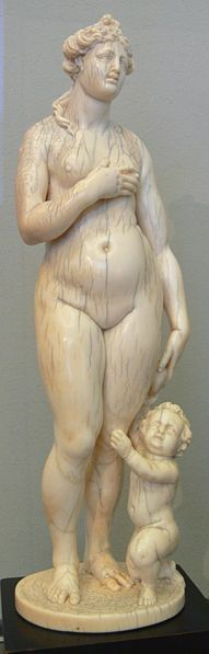 Adam Lenckhardt (1610-1661)  German ivory carver Venus and Amor,ca 1640