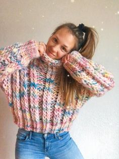 Excited to share this item from my shop: Winter Magic ribbed pullover sweater knitting pattern Sweater Knitting Patterns, Knit Patterns, Sweater Weather, Knit Crochet, Crochet Hats, Winter Magic, Crochet Patterns For Beginners, Looks Style, Mode Outfits