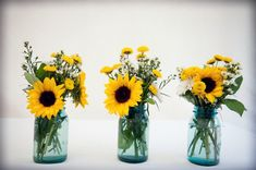 sunflower and turquoise wedding | Casey Durgin Photography} Turquoise & Sunflowers | Wedding Ideas!
