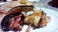 Rollitos de berenjena con jamón y mozzarella – Involtini di melanzane con mozzarella y prosciutto  –  Recetas italianas, recetas de cocina italiana en espanol