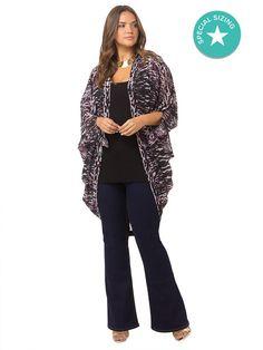 5d222923169 Purple Animal Kimono by City Chic. Kimono JacketKimono OutfitPlus Size ...
