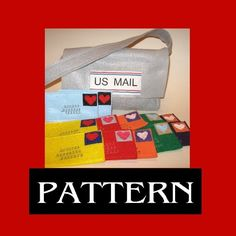 Mail bag and postcard pattern
