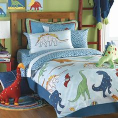 Dinosaur Bed In A Bag- If only this came in purple or pink, my daughter would love this!