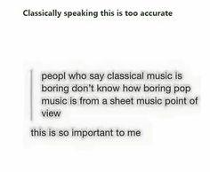 Pop music vs Classical