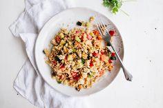 Roast Vegetable Quinoa Salad via @wallfloweraimee